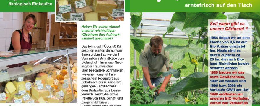 Flyer Biohof Dandl/Sengl