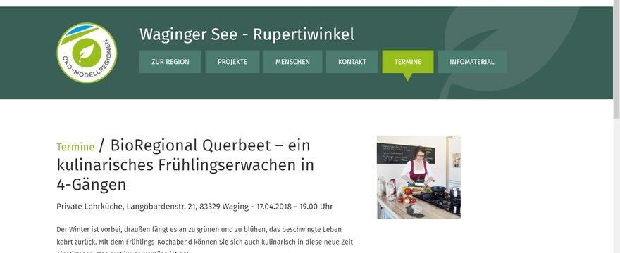 Bio-Regional Kochkurse in Waging