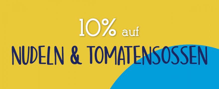 Mittwoch-Spartag im September: Nudeln & Tomatensoße