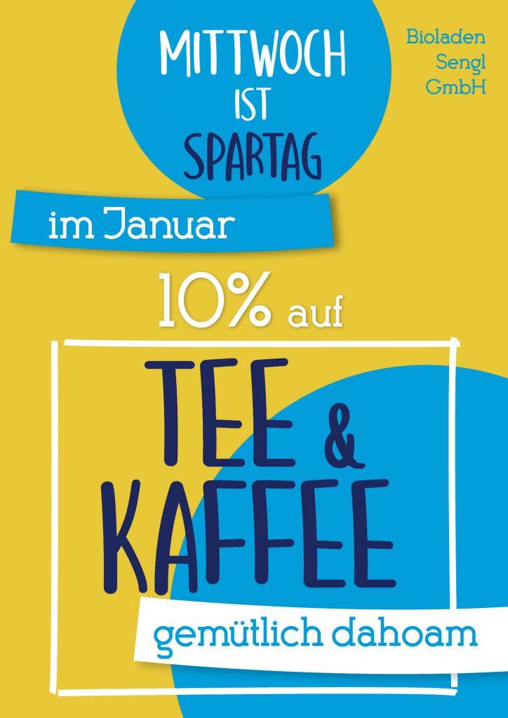 10% auf Tee & Kaffee im Januar